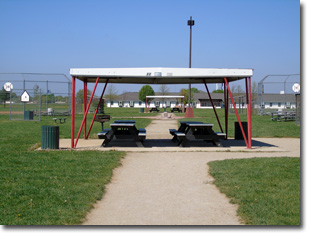 Pavilion #11 at Tri Township Park in Troy, Illinois Available for Rental for Large Groups in Illinois