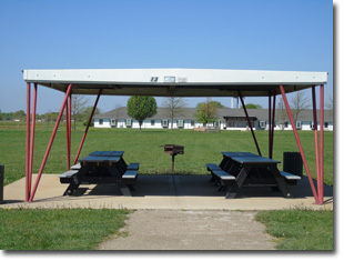 Pavilion #13 at Tri Township Park in Troy, Illinois Available for Rental for Large Groups in Illinois