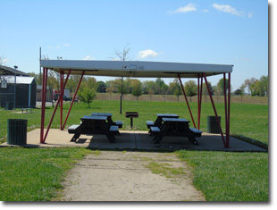 Pavilion #14 at Tri Township Park in Troy, Illinois Available for Rental for Large Groups in Illinois