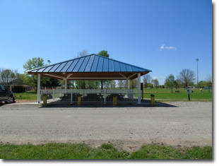 Pavilion #8 at Tri Township Park in Troy, Illinois Available for Rental for Large Groups in Illinois