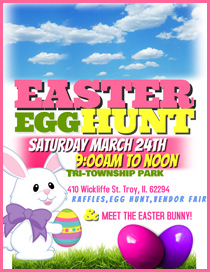Easter Egg Hunt at Tri-Township Park in Troy IL