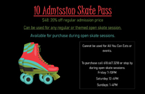 I10 Admission Skate Pass for Tri-Township Park Activity Center