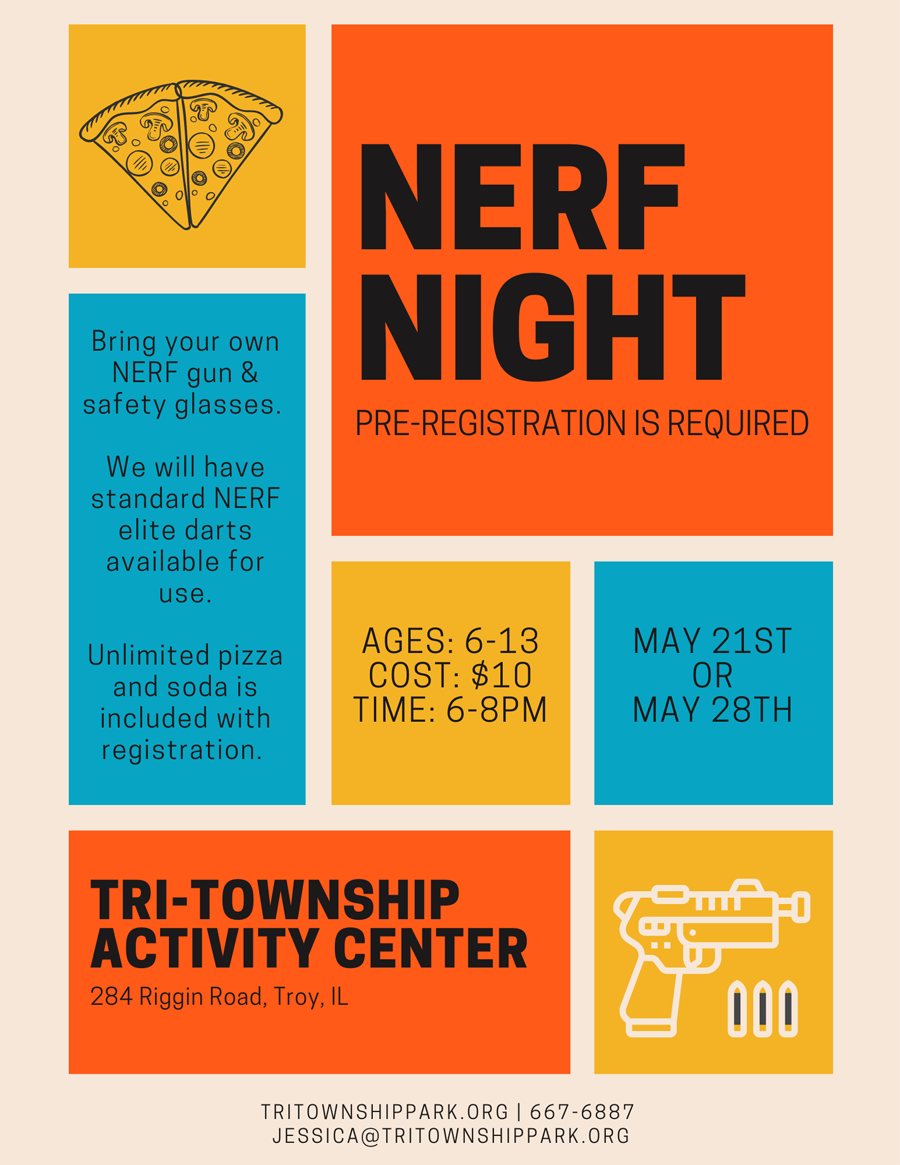 Nerf Night at Tri-Township Park Activity Center