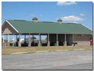 Pavilion #10 at Tri Township Park in Troy, Illinois Available for Rental for Large Groups in Illinois