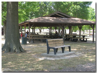 Pavilion #6 at Tri Township Park in Troy, Illinois Available for Rental & Located Across from the Petting Zooo in Illinois