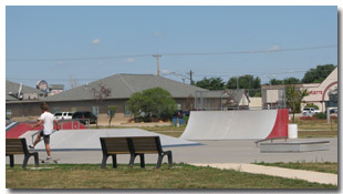 The Skate Park at Tri-Township Park in Troy, Illinois - IL
