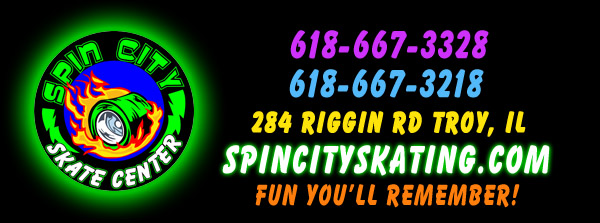 Spin City Skate Center in Troy Illinois