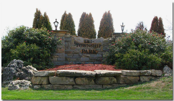 Tri-Township Park Entrance in Troy IL