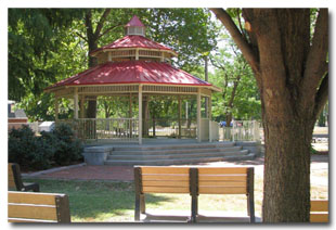 Tri-Township Gazebo Perfect for Outdoor Weddings & Entertainment Productions at Tri-Township Park in Troy, Illinois - Il